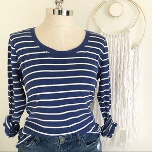 Ralph Lauren Royal blue and white striped tee.